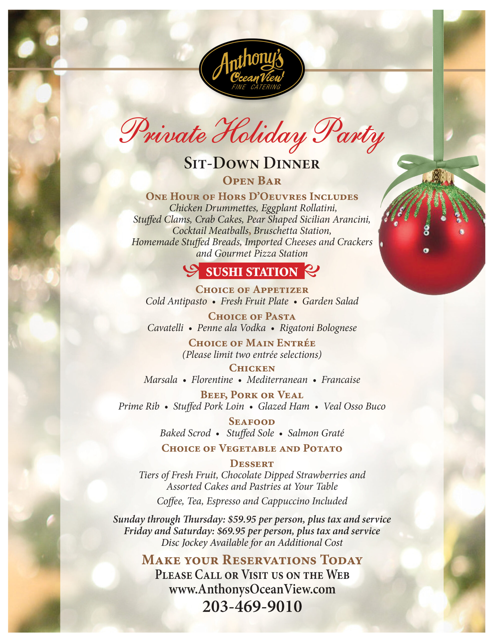Holiday Parties, Connecticut Shorline, New Haven, Christmas Events