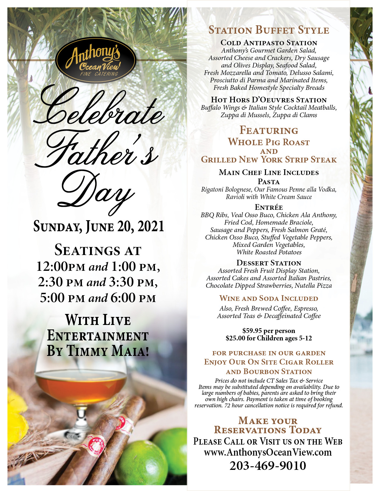 Fathers Day Brunch, Fathers Day lunch Specials, Outdoor Dining, Indoor Dining, Fathers Day 2021