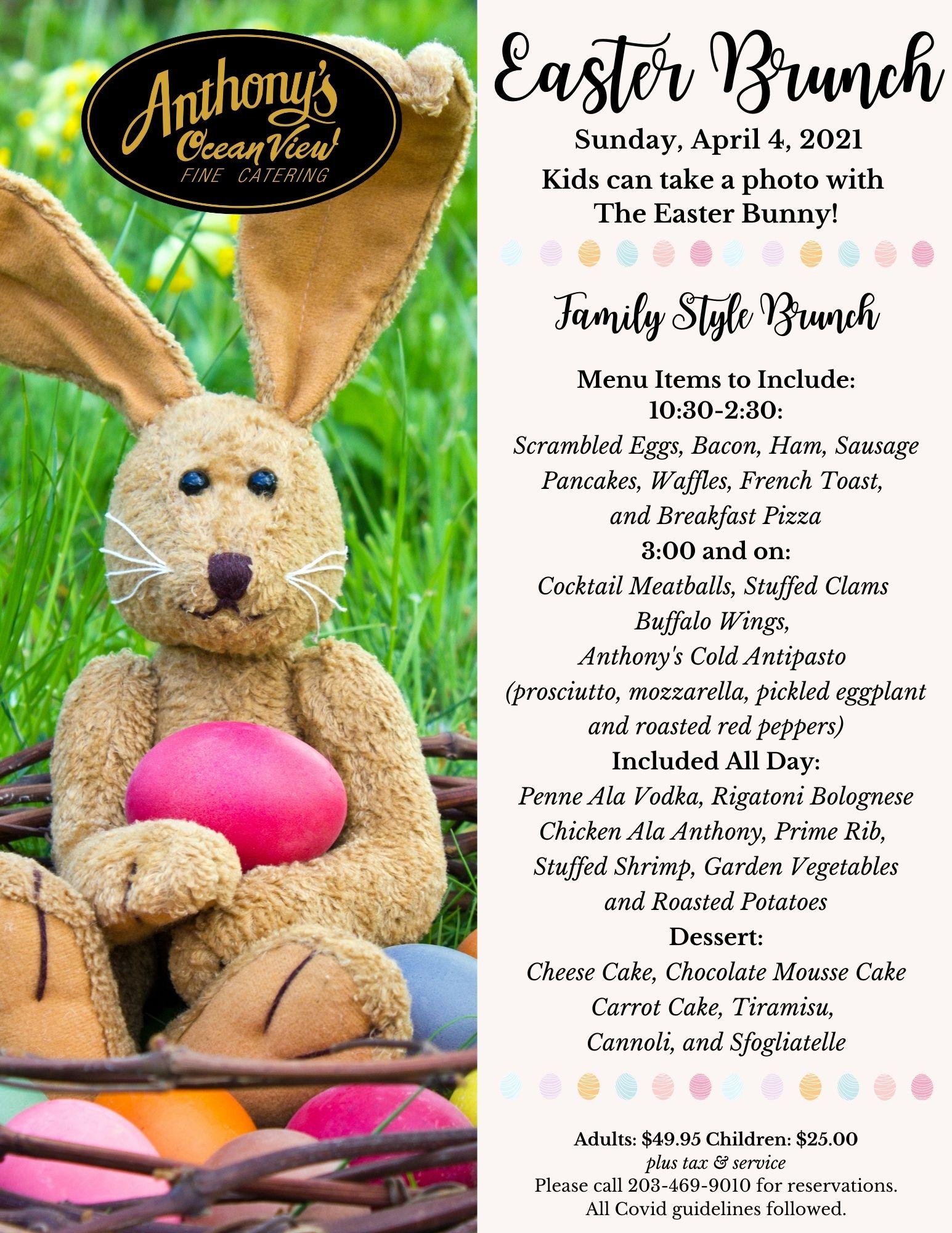 Easter Brunch, Easter Menu, Easter Dining, Easter Events